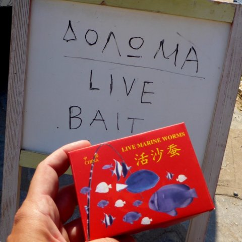 sivota harbour greece fishing live bait angeln