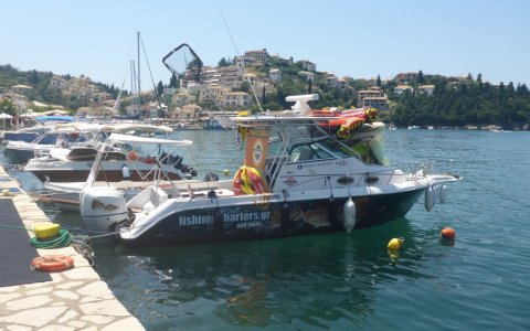 fishing charter sivota harbour angeln greece