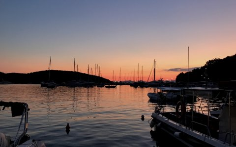sivota harbour by night fishing angeln greece